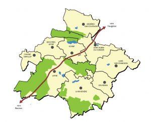 carte Liffré-Cormier Communauté